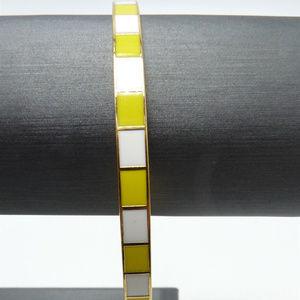 kate spade Yellow and White Bangle Bracelet